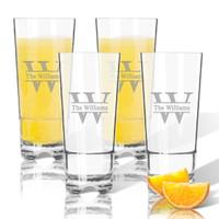 Tritan High Ball Glasses 16 oz (Set of 4): Split Letter