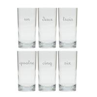 UN DEUX TROIS COOLER: SET OF 6 (Glass)