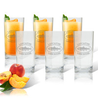 PERSONALIZED TROUT LAKE HOUSE COOLER: SET OF 6 (Glass)