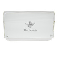 Personalized Acrylic Serving Tray - Bee