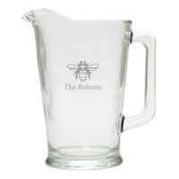 PERSONALIZED BEE PITCHER  (GLASS)