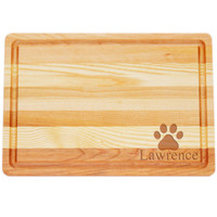 "Medium Master Cutting Boards 14.5"" X 10"" - Personalized Paw Print"
