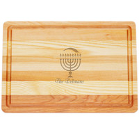 "Medium Master Cutting Boards 14.5"" X 10"" - Personalized Menorah"