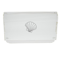 Acrylic Serving Tray - Scallop
