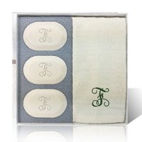 Eco-Luxury Gift Set - Initial (3 Bars 1 Towel)