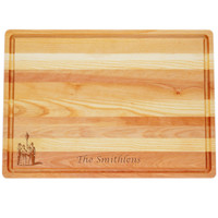 """Large Master Cutting Board 20"""" X 14.5"""" - Personalized Carolers"""