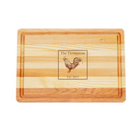 """Medium Master Cutting Boards 14.5"""" X 10"""" - Personalized Rooster"""