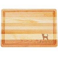 "Medium Master Cutting Boards 14.5"" X 10"" - Personalized Dog Silhouettes"