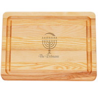 "Small Master Cutting Board 10"" X 7.5"" - Personalized Menorah"
