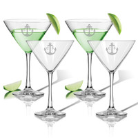 ICON PICKER PERSONALIZED COCKTAIL - SET OF 4 (GLASS) (Beach/Nautical)