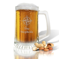 PERSONALIZED SPORTS MUG (GLASS) (Beach/Nautical)