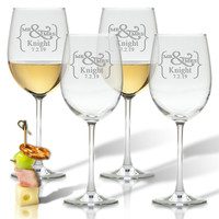 ICON PICKER PERSONALIZED WINE STEMWARE - SET OF 4 (GLASS)(Prime Design)