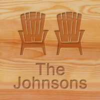 Cutting Board - Personalized (ADIRONDACK CHAIRS)