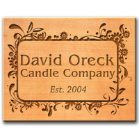 Personalized Western Red Cedar Sign (Boarder Designs with Text)