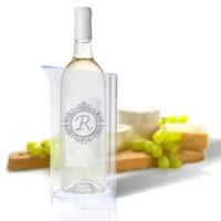 Personalized Iceless Wine Bottle Cooler (Icon Picker)(Initial/Monogram Prime Design)