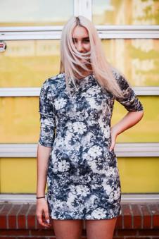 Zara Grey Floral Shift Dress