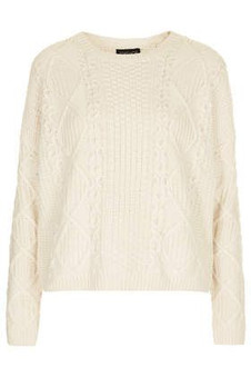 Topshop Winter White Cable Jumper