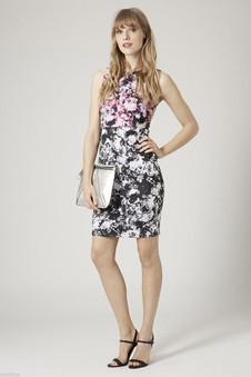 Topshop PETITE Photo Floral Dress