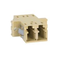 LC-LC Fiber Optic SC Mount Duplex Adapter in Beige with Metal Sleeve
