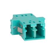 LC Duplex Adapter - Metal Sleeve - Aqua