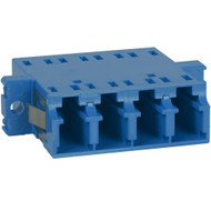 LC-LC Fiber Optic SC Mount Quad Adapter in Blue Ceramic Sleeve