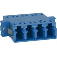 LC Quad Adapter - Ceramic Sleeve - SC Mount - Blue