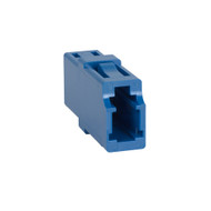LC-LC Fiber Optic Square Mount Simplex Adapter in Blue with Ceramic Sleeve