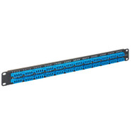 LC-LC Fiber Optic Patch Panel Pre-loaded with 96 Blue Fibers