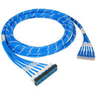 Pre-terminated UTP Cassette Patch Panel Kit with CAT 5e Cable Assemblies,  Bezel to Patch Cords