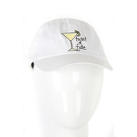 Be As You Are White Twist of Fate Lemon Drop Yellow Martini Baseball Hat Cap