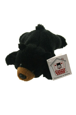 "Stuffed Animal House 21"" Black Bear Realistic Wildlife Furry Plush Toy"