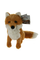 "Stuffed Animal House 7"" Red Fox Sitting Northern Wildlife Plush Furry Toy"
