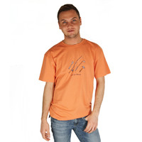 Life is Good Pumpkin Orange Action Hero Mens Tee Crusher T-Shirt Tee Top BBQ Spatula Fishing Rod Golf Club Hammer