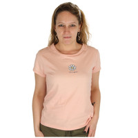 Life is Good Pastel Pink White Daisy Bloom Flower Sugar Tee T-Shirt Top 100% Cotton Flattering Fit