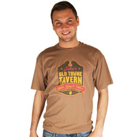 Life is Good Teak Brown Jake's Old Towne Tavern Creamy T-Shirt Mens Short Sleeve Tee Crewneck Top