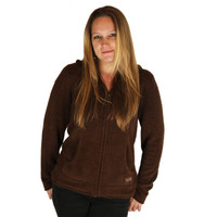 Life is Good Dark Chocolate Brown Snuggle Zippity Hoodie Full Zip Up Hooded