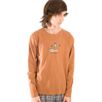Life is Good Caramel Jake Snowboard Crusher Longsleeve Mens Shirt Top Orange Brown Snow Winter Front