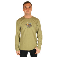 Life is Good Green Hot Tub Jake Long Sleeve Tee Mens Crusher T-Shirt Top Winter
