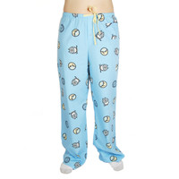 Life is Good Jeans Blue Owl Moon Star Sleep Pajamas Lounge Pants Sleepwear PJs Ladies Loungepants