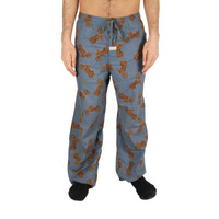 Life is Good Shadow Blue Motorcycle Icon Bike Ride Pajamas Flannel Sleep Lounge Pants Sleepwear PJs Mens Loungepants