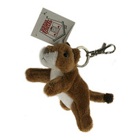 """Stuffed Animal House 4.5""""  Striding Cougar Keychain Wild Zipper Pull Mini Key Chain Tiny Soft Furry Fuzzy Clip Backpack Critter"""