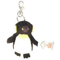 "Stuffed Animal House 3.25"" Standing Penguin Keychain Ocean Sea Life Wild Zipper Pull Mini Key Chain Tiny Soft Furry Fuzzy Clip Backpack Critter"