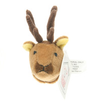 "Stuffed Animal House 2.25"" Brown Elk Head Fridge Refrigerator Locker Magnet Mini Magnetic Walltoy Wild Tiny Toy Small Soft Furry Fuzzy Plush Critter Canadian North American Wildlife"
