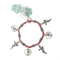 HOTI Hemp Handmade Red Classic Love Red Hemp Fancy Metal Beads Ladies Womens Charm Bracelet Hand Crafted Made in Canada Made in Toronto Made in Ontario Boho Chic Beaded Cupid Heart Winged Angel Charms Valentine's Day Clasp-It Lobster Clasp Toronto Ontario Canada