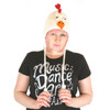 Delux Casey Chicken Ivory Winter White Knitwits Knit Pilot Youth Adult Barnyard Animal Knitted Hat Warm Wool Cute Fun
