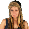 Delux Black Riley Trapper Warm Winter Hat Youth Adult Faux Fake Fun Fur Trim Brim Ear Flaps Wilderness Chic Knitwear