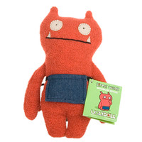 Uglydoll Minimum Wage Rust Red Little Ugly 2007 5101-1 Soft Plush Stuffed Toy Doll
