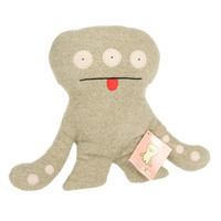 Uglydoll Grey Cinko Ugly 1003-1Gray Rare Classic Misspeller Soft Plush Stuffed Toy Doll