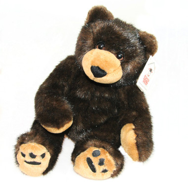 "Stuffed Animal House 12"" Black Brown Bear Sweetie Wildlife Cuddle Bear Wild Plush Toy"