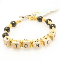 HOTI Hemp Handmade Stoner Yellow Hemp Square Wood Cube Alphabet Brown Natural Beads Black Round Bead Mens Womens Ladies Unisex Word Up Bracelet Hand Crafted Made in Toronto Made in Ontario Made in Canada Beaded Wood Beads Square Beads 420 Alligator Clip Roach Clip Clip It Clip Toronto Ontario Canada Canadian